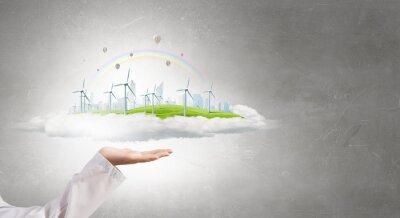 Concepto de energía alternativa
