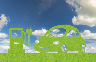 Concepto de energía alternativa eco coche