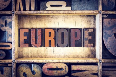 Cuadro Concepto de Europa Tipo de tipografía