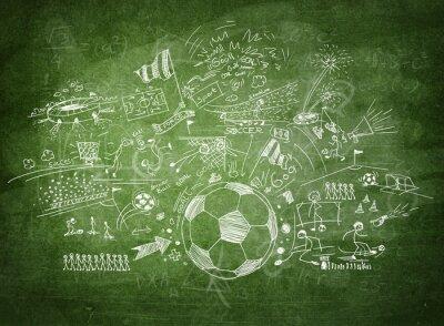 Cuadro Concepto de fútbol Blackboard