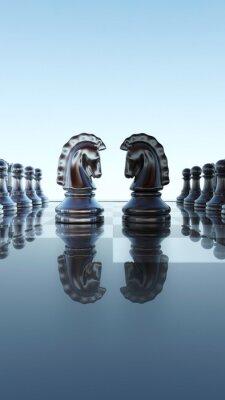 Cuadro Concepto de tablero de ajedrez - Springer duelo