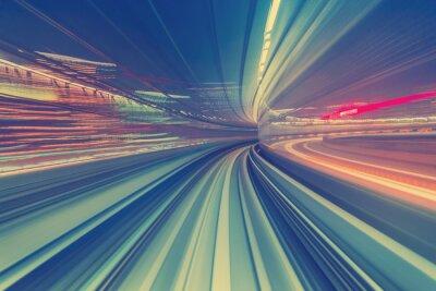 Cuadro Concepto de tecnología de alta velocidad a través de un monorraíl de Tokio