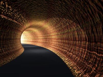 Cuadro Conceptual resumen túnel de carretera con la luz al final