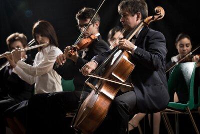 Cuadro Concierto de música clásica: orquesta sinfónica en el escenario