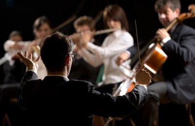 Cuadro Conductor dirigir la orquesta sinfónica