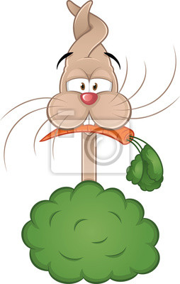 Conejo De Dibujos Animados Con Zanahoria Pinturas Para La Pared Cuadros Tonto Oido Zanahoria Myloview Es Todos estos recursos zanahoria, de dibujos animados, bebé de zanahoria hd son para descargar. myloview es