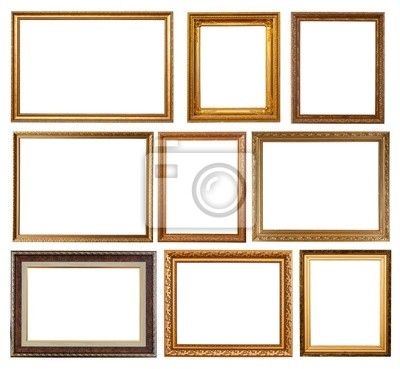 Conjunto de 9 marcos de oro