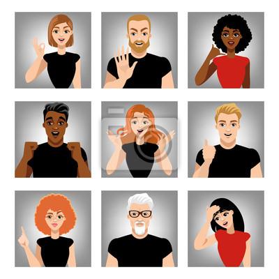 Conjunto De Imágenes Vectoriales De Personas Con Diferentes