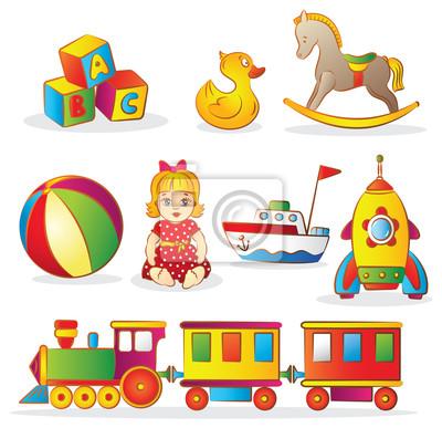 Conjunto de juguetes para niños pinturas para la pared • cuadros ...