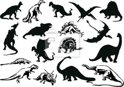 conjunto de los dinosaurios siluetas