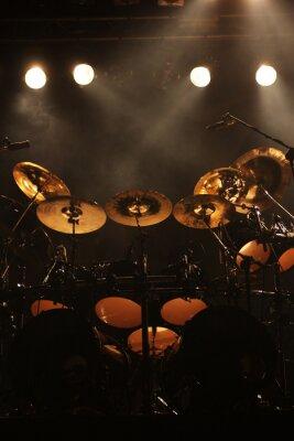 Cuadro Conjunto de tambores en el escenario