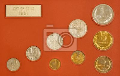 Cuadro Conjunto de viejas monedas de Rusia