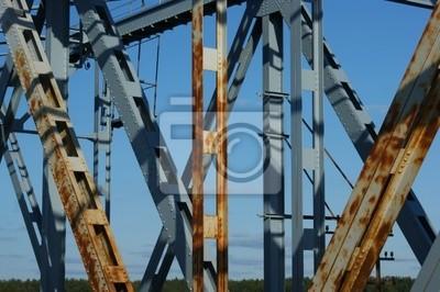 Cuadro construcción de puentes oxidados