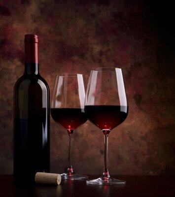 Cuadro copas de vino en la mesa