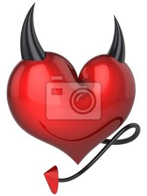 Corazón del diablo. Fatídica amor por el amante. 3D (alta resolución)
