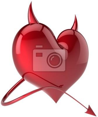 Corazón Diablo Amor pasión símbolo sexy cuernos roja TOTAL