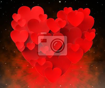 Corazón Hecho Con Los Corazones Significa Hermoso Matrimonio