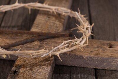 Cuadro Corona de espinas en una cruz