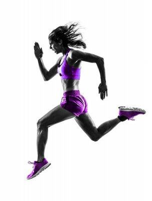 Cuadro corredor de la mujer de jogging basculador Silueta corriente