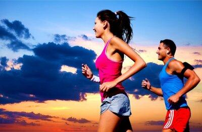 Cuadro Correr, al aire libre, en forma.