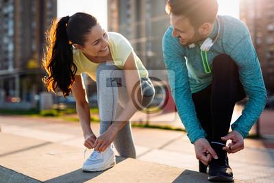 Cuadro Correr y correr son recreaciones de fitness.