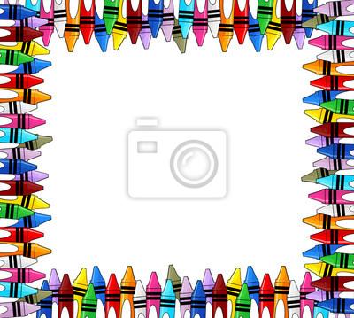 Crayones marco pinturas para la pared • cuadros multicolor, lápices ...