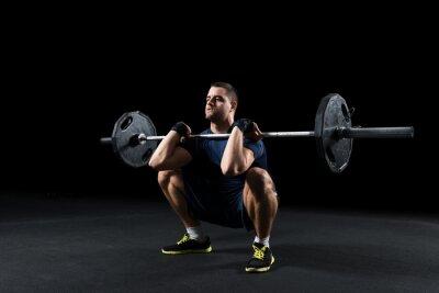 Cuadro Crossfit atleta realiza la elevación de peso