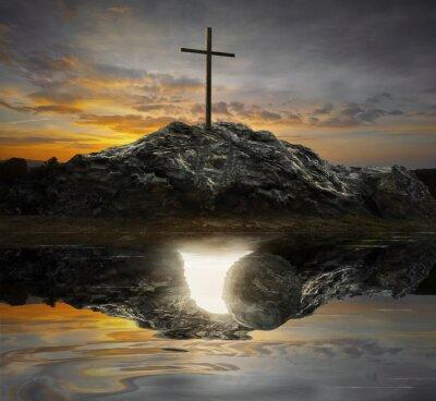 Cuadro Cruz y tumba vacía
