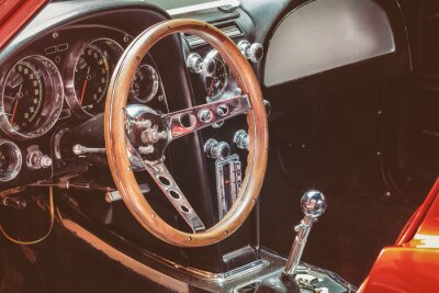 Cuadro Cuadro de instrumentos de un coche clásico