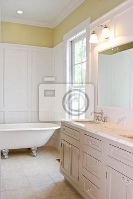 Cuarto de baño blanco pinturas para la pared • cuadros bañera ...
