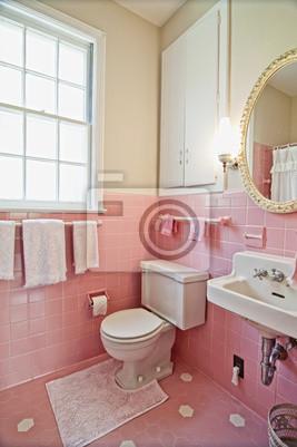 Cuadro: Cuarto de baño de color rosa
