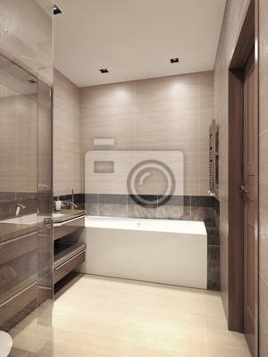 Cuarto de baño de estilo contemporáneo pinturas para la pared ...