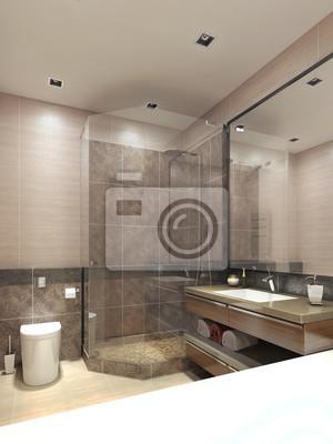 Cuadro: Cuarto de baño de estilo moderno