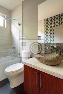 Cuarto de baño moderno con el accesorio fregadero roca pinturas para ...