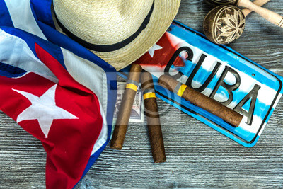 Cuadro Cuban concept table of some related items