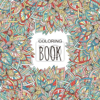 Cubierta del libro para colorear adulto. ornamento colorido del ...