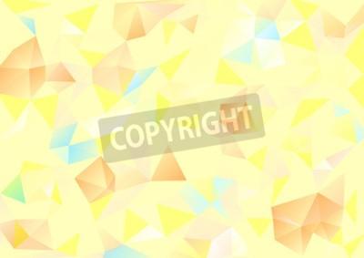 Cuadro Cubismo de fondo Amarillo pálido y azul naranja