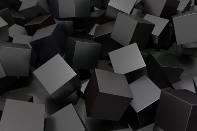 Cuadro Cubo abstracto