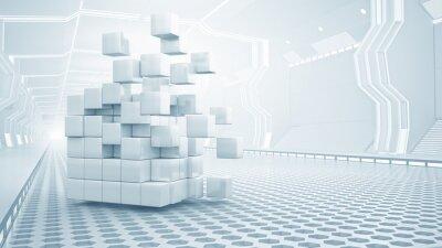Cuadro Cubo en la sala virtual