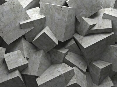 Cuadro cubos de pared