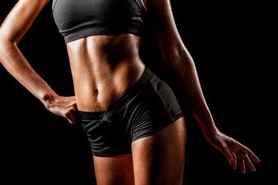 Cuadro cuerpo de la mujer del deporte