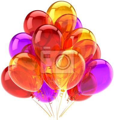 Cumpleaños globos partido celebrar decoración brillante multicolor
