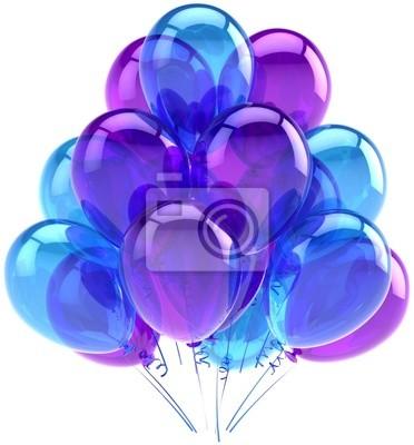 Cumpleaños globos partido decoración azul púrpura de ocasión