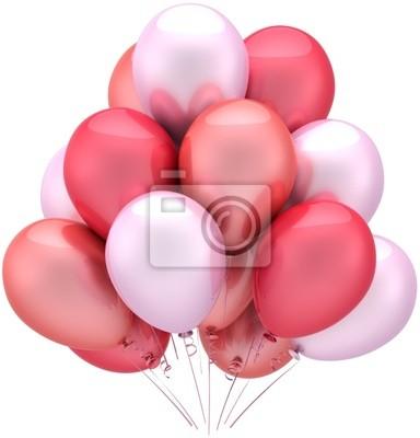 Cumpleaños globos partido decoración de amor romántico rosa