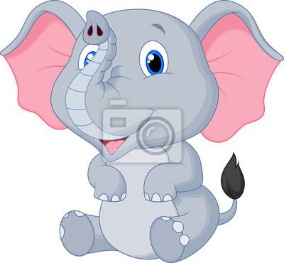 Cute Dibujos Animados Bebé Elefante Pinturas Para La Pared Cuadros