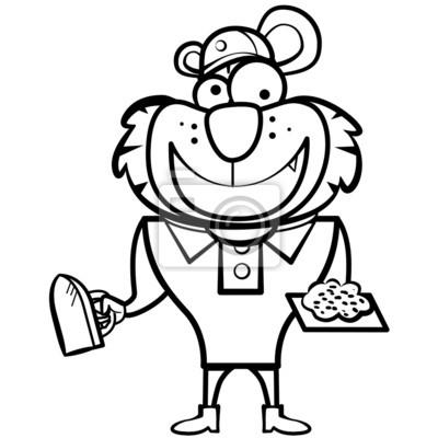 De dibujos animados para colorear constructor tigre con la ...