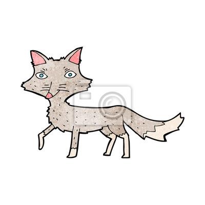De Dibujos Animados Pequeño Lobo Pinturas Para La Pared Cuadros