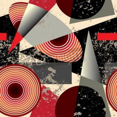 Cuadro De fondo sin fisuras pattern.Abstract patrón en estilo del cubismo