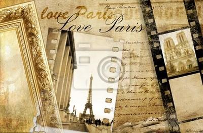 De recuerdos de París - artístico clip-art
