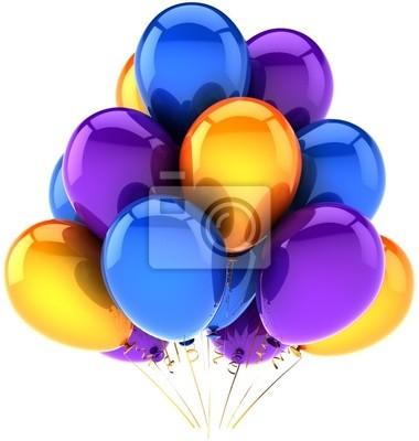 Decoración brillante globos de cumpleaños fiesta multicolor